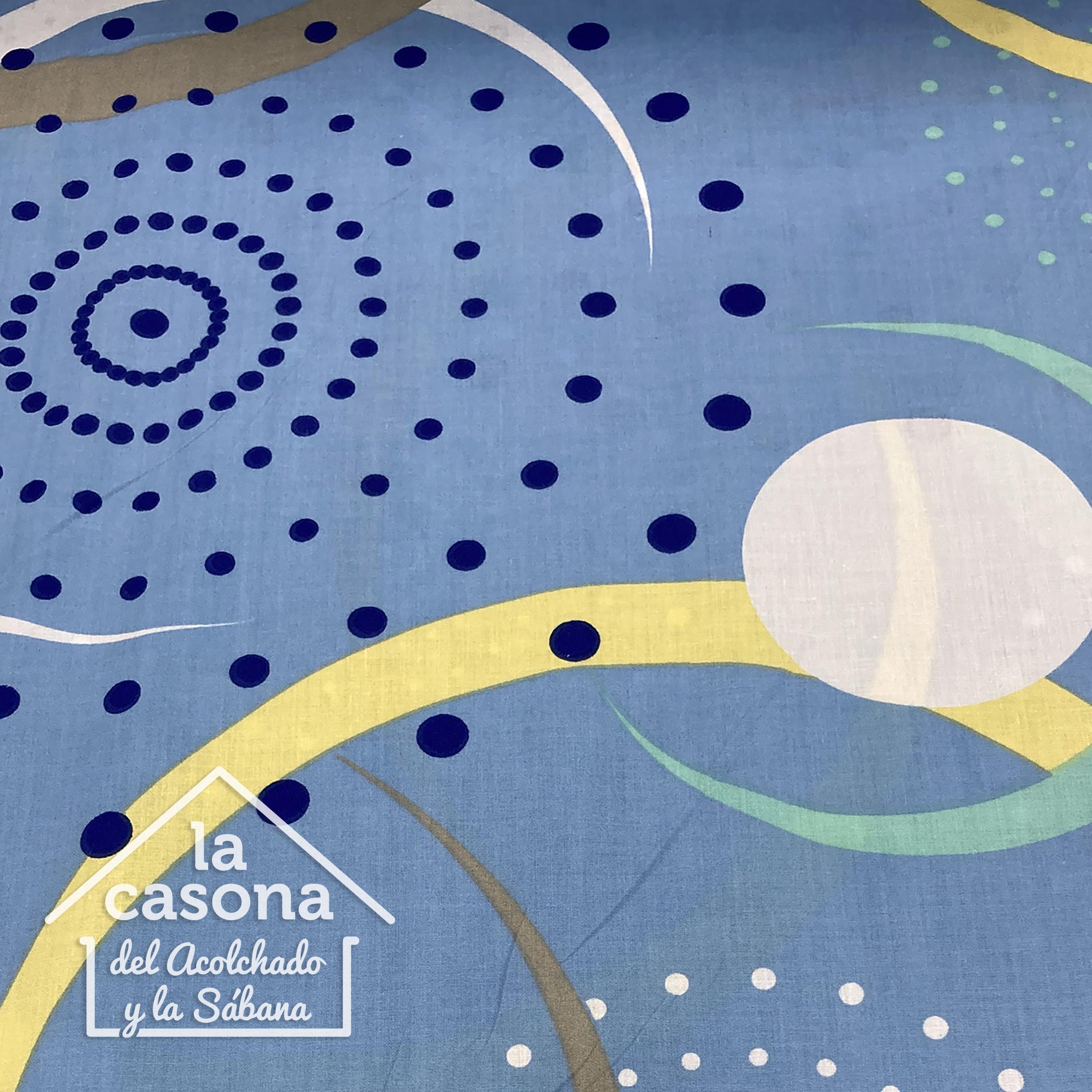 enfoque sabana azul con diseños en espiral algodón de 200 hilos