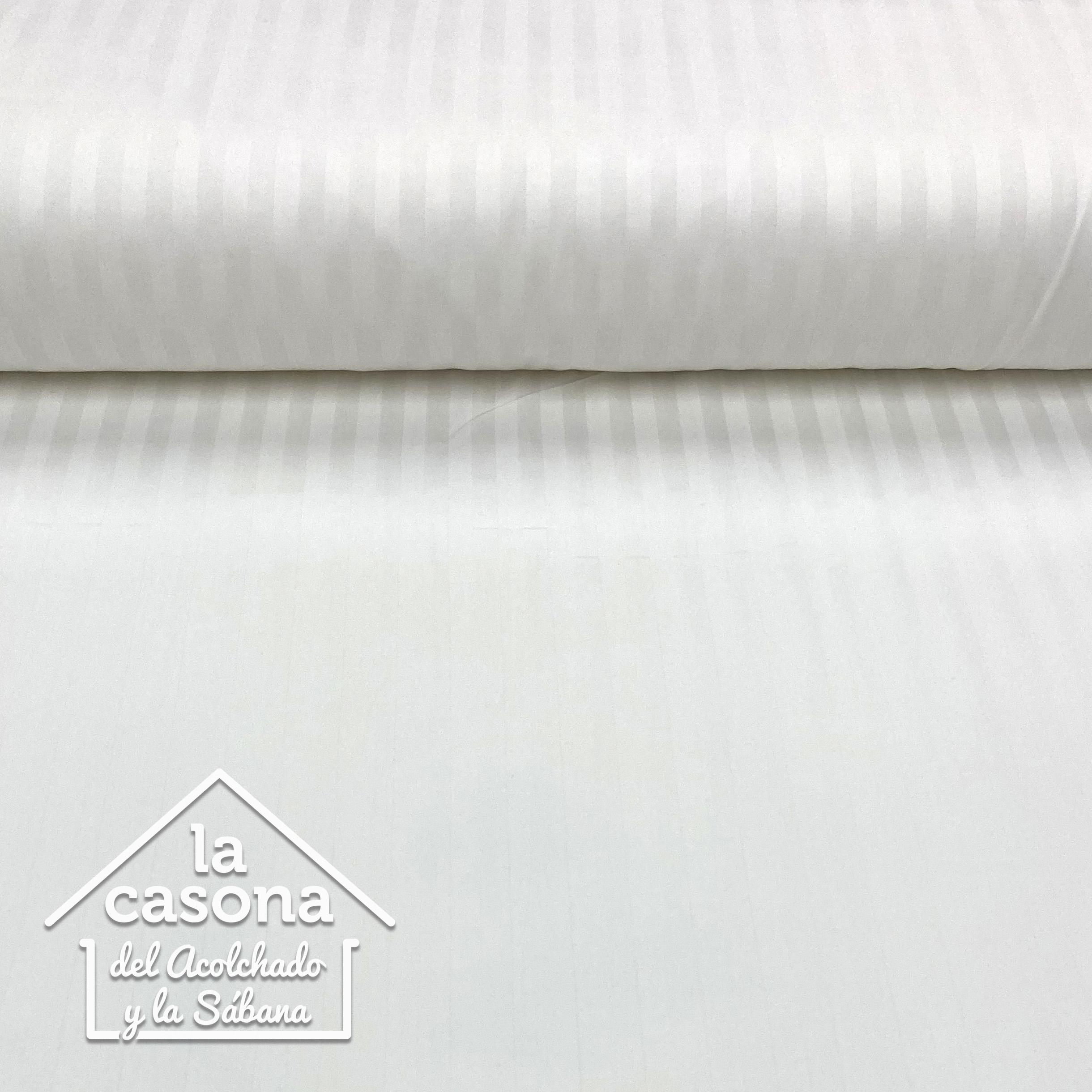 enfoque tela de algodón de 500 hilos diseño a rayas en vista horizontal
