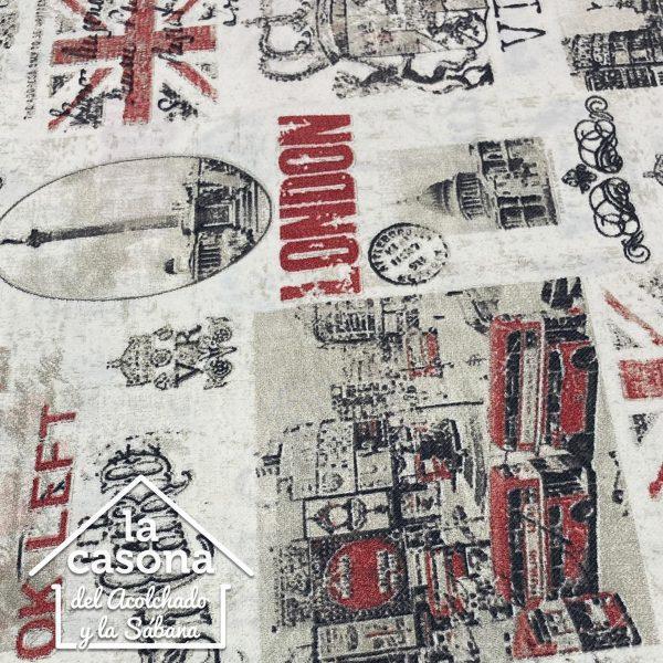 enfoque tela polialgodón con diseños de londres
