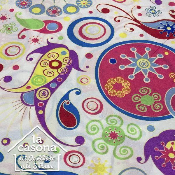 enfoque tela polialgodón con diseños en diferentes colores
