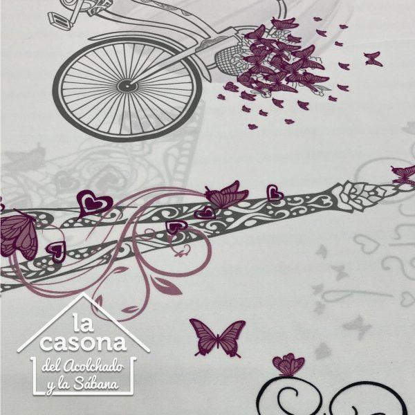 enfoque tela polialgodon con diseños de mariposas vintage