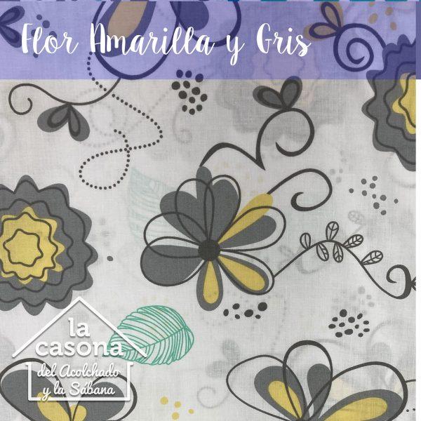flor amarilla y gris