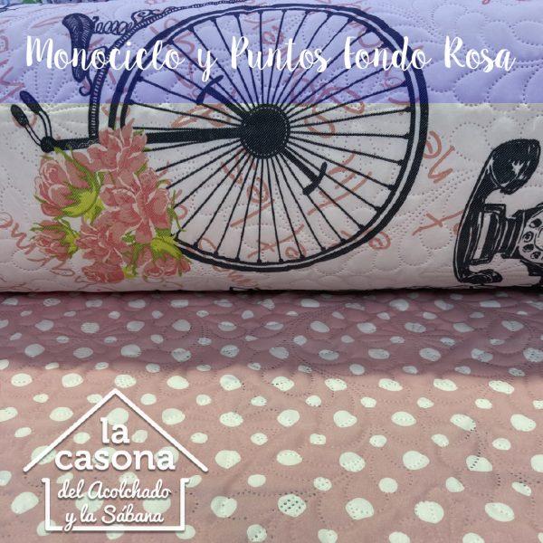 monociclo y puntos fondo rosa-100