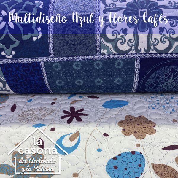 multidiseño azul y flores cafes-100