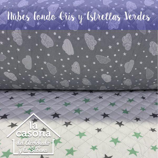 nubes fondo gris y estrellas verdes-100