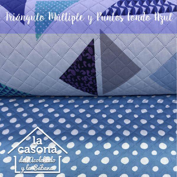 triangulo multiple y puntos fondo azul-100