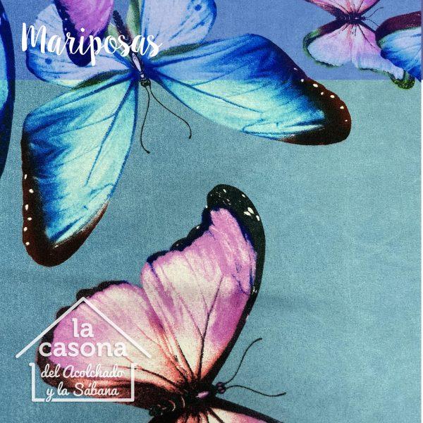 enfoque tela polialgodon mariposas