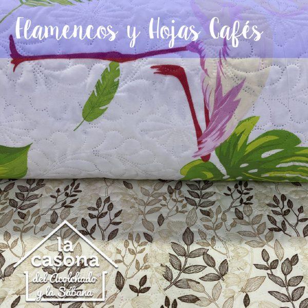 flamencos y hojas cafes-100