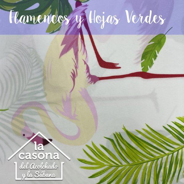 flamencos y hojas verdes-100
