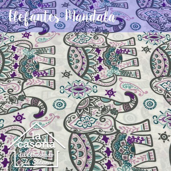 enfoque-tela-polialgodón-con-diseños-de-elefantes-con-mandalas