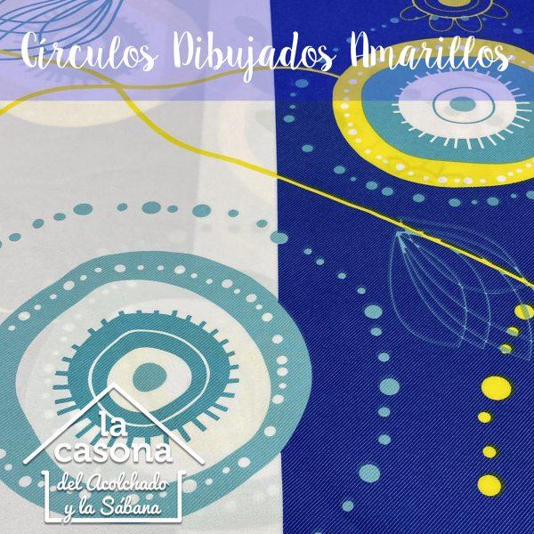 enfoque-tela-polialgodón-con-diseños-de-circulos-en-color-azul-y-amarillo