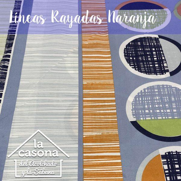 enfoque-tela-polialgodón-con-diseños-de-dibujos-a-rayas-en-color-morado-y-naranja