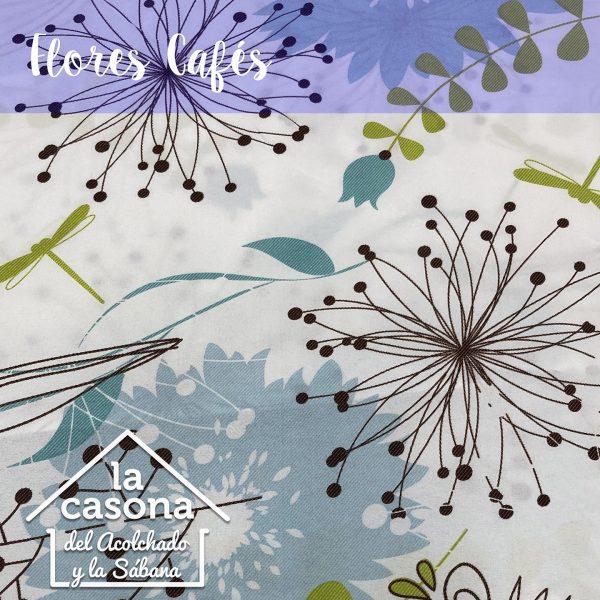 enfoque-tela-polialgodón-con-diseños-de-flores-en-color-cafe-y-azul-cielo-con-toques-verdes
