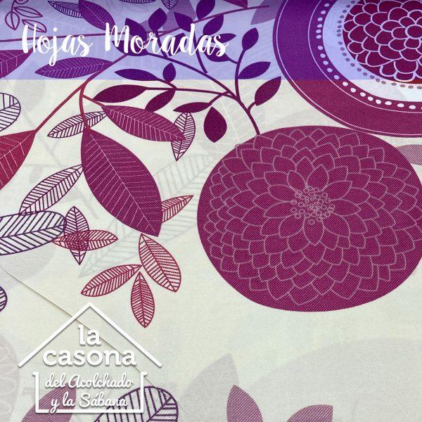 enfoque-tela-polialgodón-con-diseños-de-hojas-y-figuras-moradas