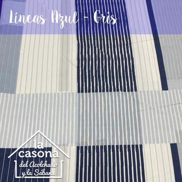 enfoque-tela-polialgodón-con-diseños-de-rayas-horizontales-y-verticales-en-azul