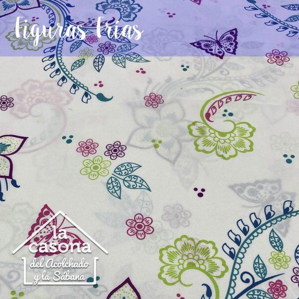 enfoque-tela-polialgodon-con-diseños-florales-en-rosa-verde-y-azul