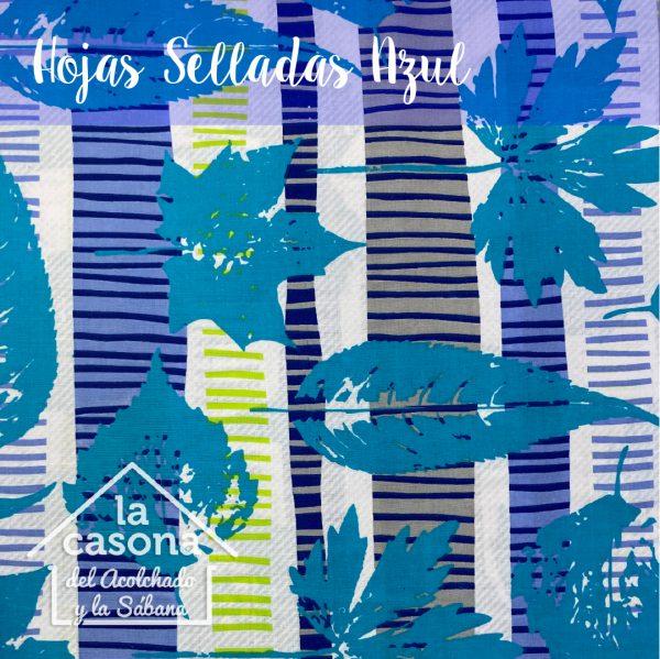 hojas selladas azul-100