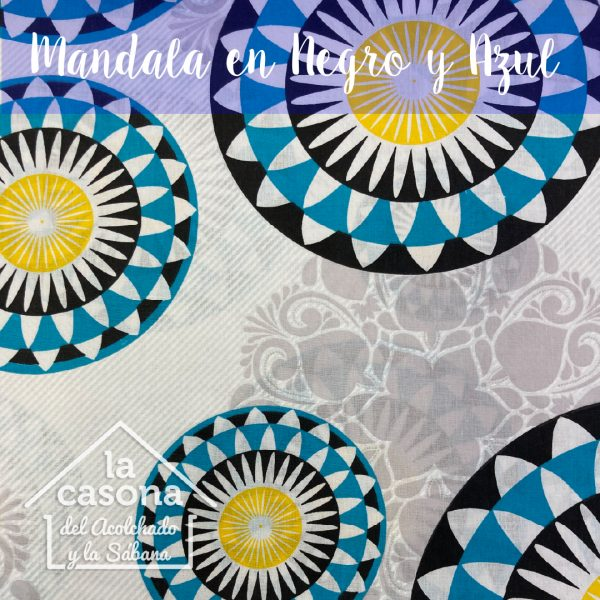 mandala en negro y azul-100